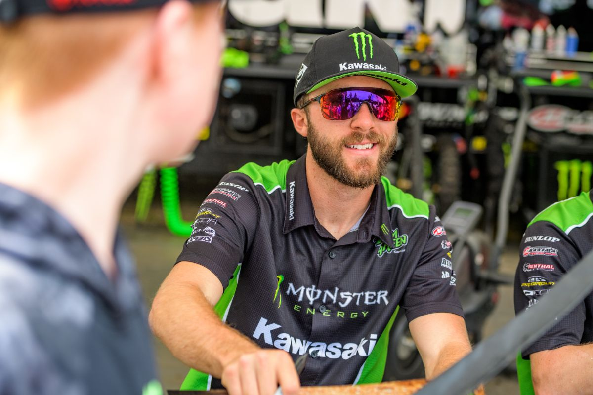 "Monster Energy Kawasaki Race Team - ""I'm thrilled to continue the relationship with Kawasaki,"" said Tomac."
