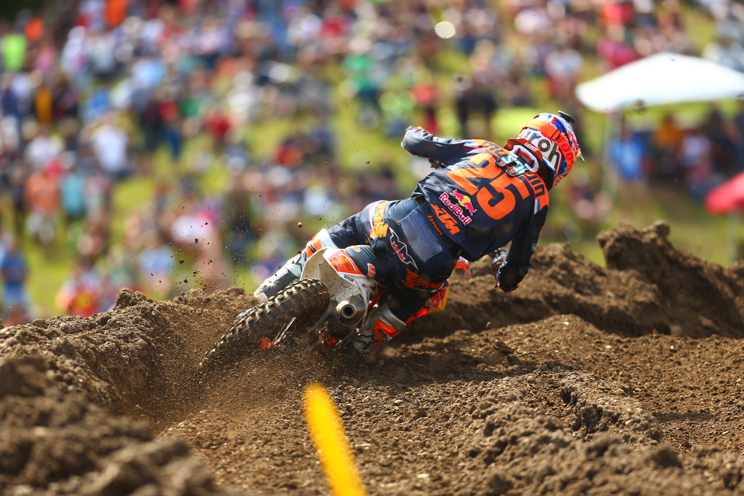 Musquin was in the hunt early and finished second best in class -  Unadilla