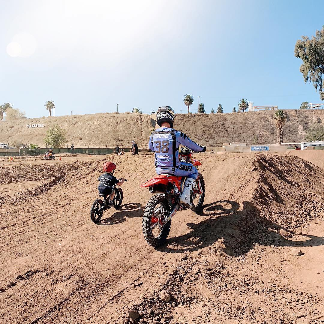 Racer Christian Craig is one of many members of the Pro Motocross community