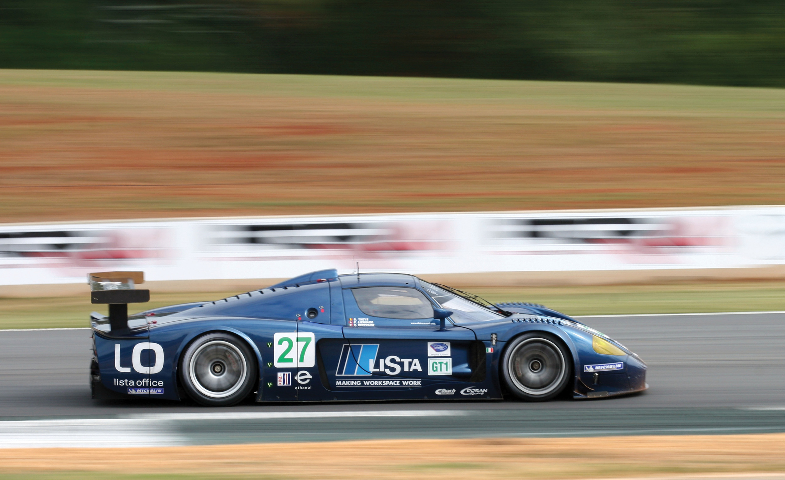 The MC12 at speed during the 2007 ALMS Petit Le Mans (Credit - Courtesy of Motorsport Images)