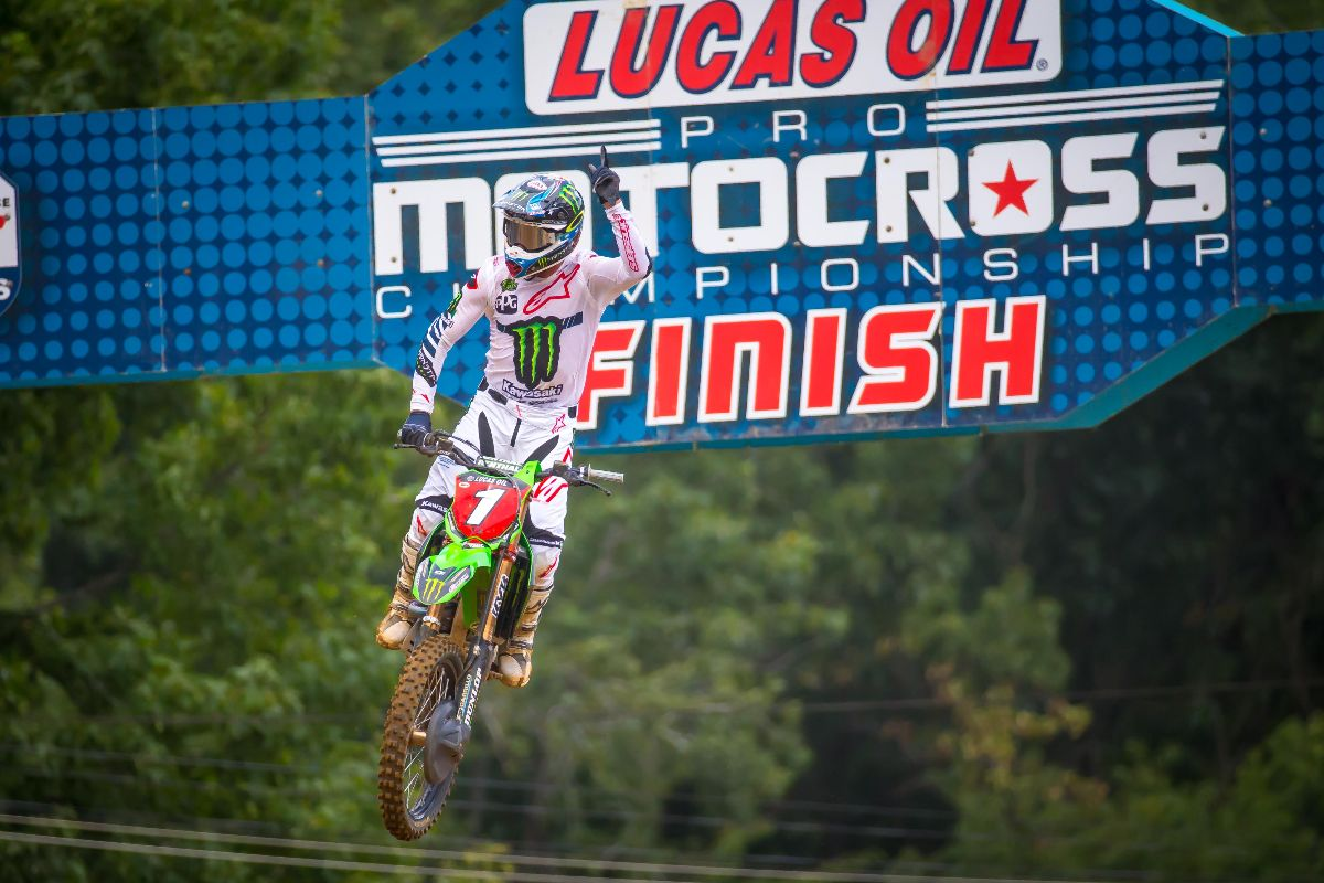 Tomac became just the fourth rider in history to achieve the championship three-peat