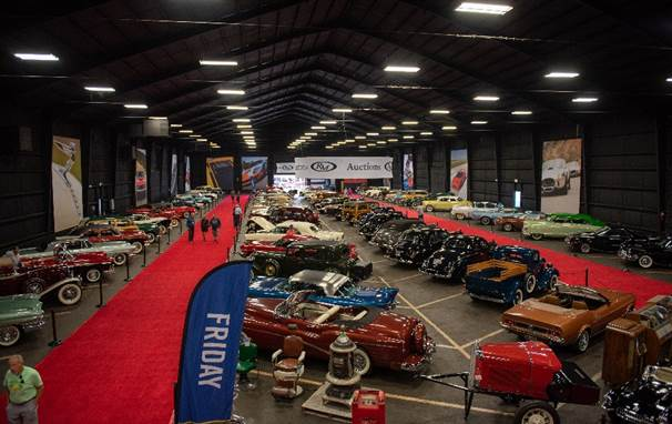 An overview of the Ed Meurer Collection on display in the Cord building at the Auburn Auction Park (Corey Escobar © 2019 Courtesy of RM Sotheby's)