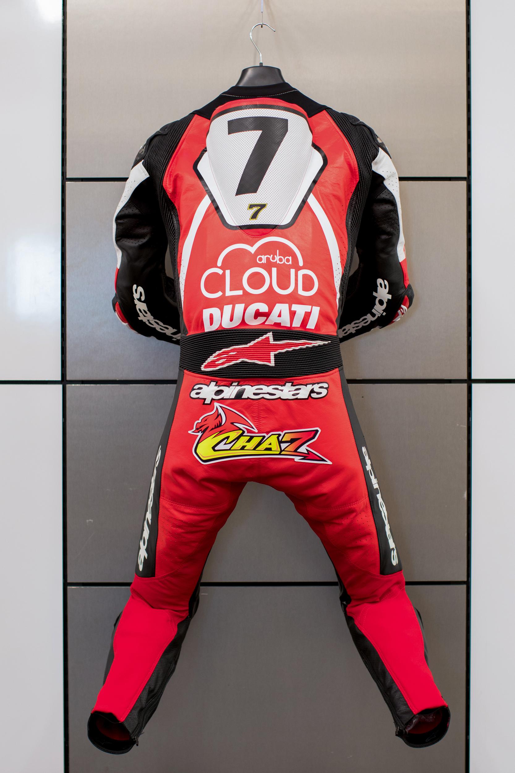 190905 Chaz Davies racing leather suit - 2019 WSBK WeatherTech Raceway Laguna Seca [2]