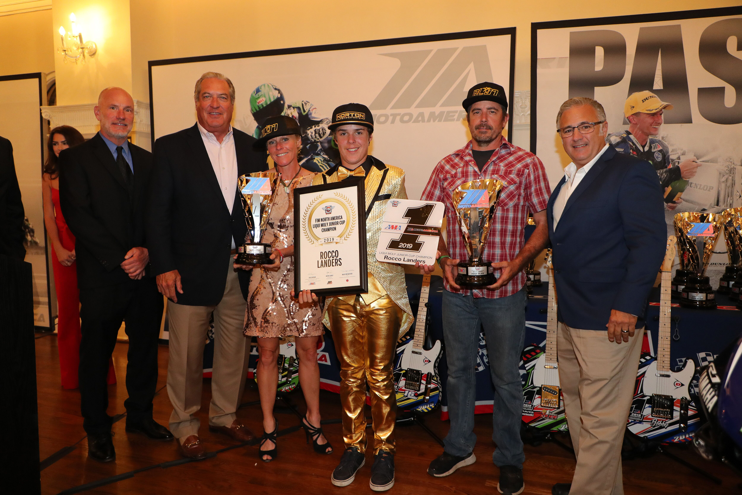 190925 Stoney Landers and Liqui Moly's Vinny Russo celebrate Rocco's Liqui Moly Junior Cup title.|Photo by Brian J. Nelson