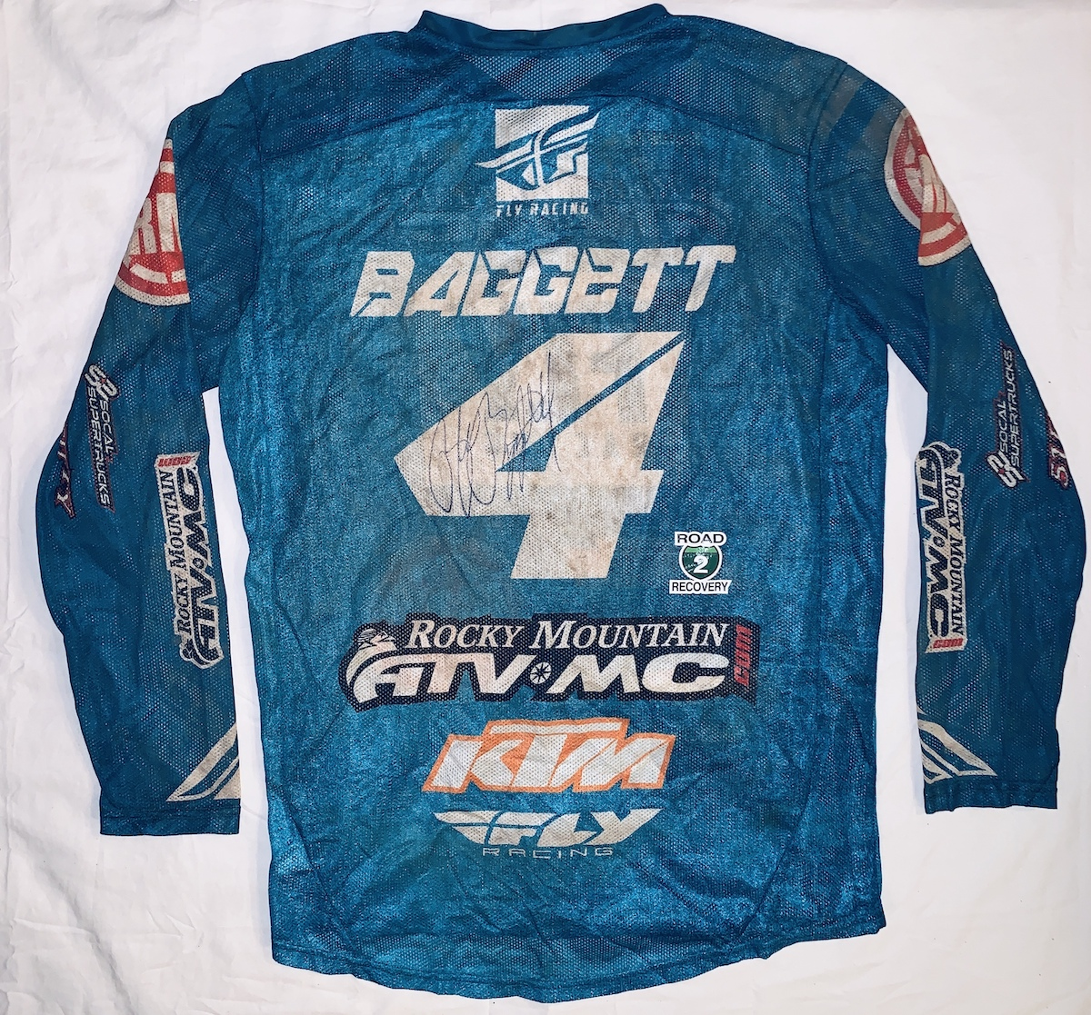 Road 2 Recovery Hosts Motocross Memorabilia Mania eBay Auction - Baggett race jersey