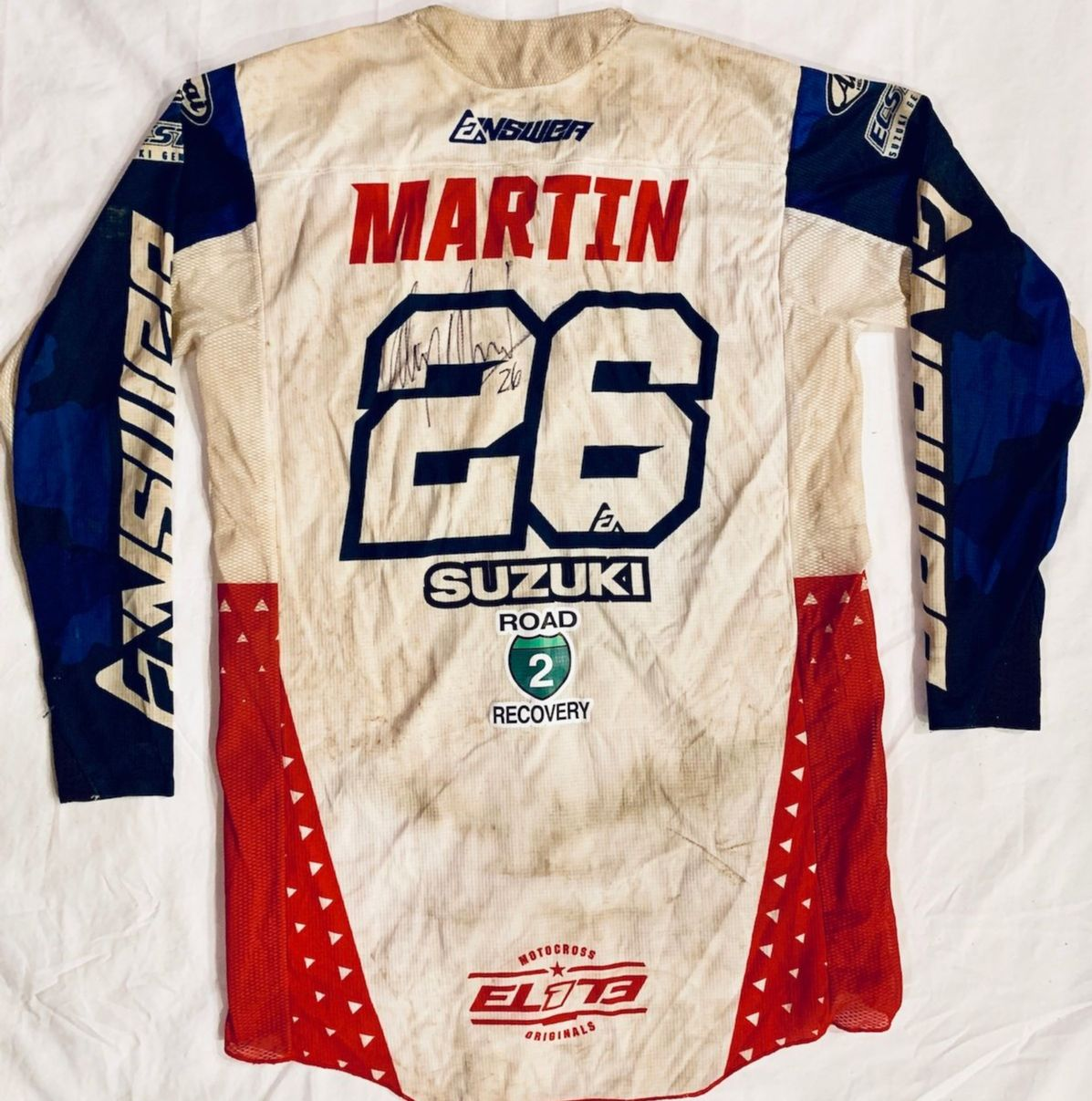 Road 2 Recovery Hosts Motocross Memorabilia Mania eBay Auction - Martin race jersey
