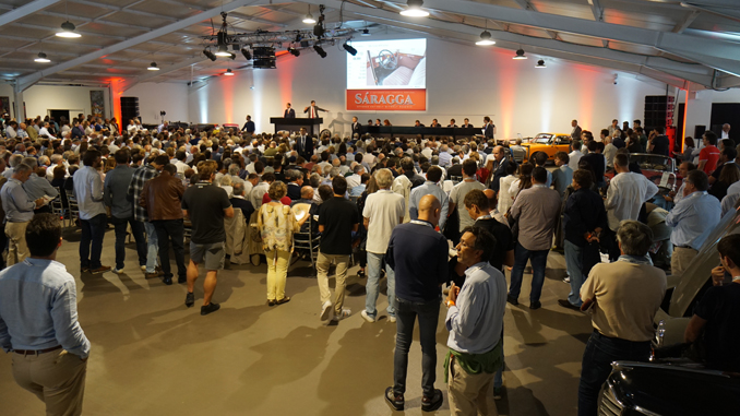 The packed auction room onsite at The Sáragga Collection sale in Portugal (Peter Ward © 2019 Courtesy of RM Sotheby's) [678]