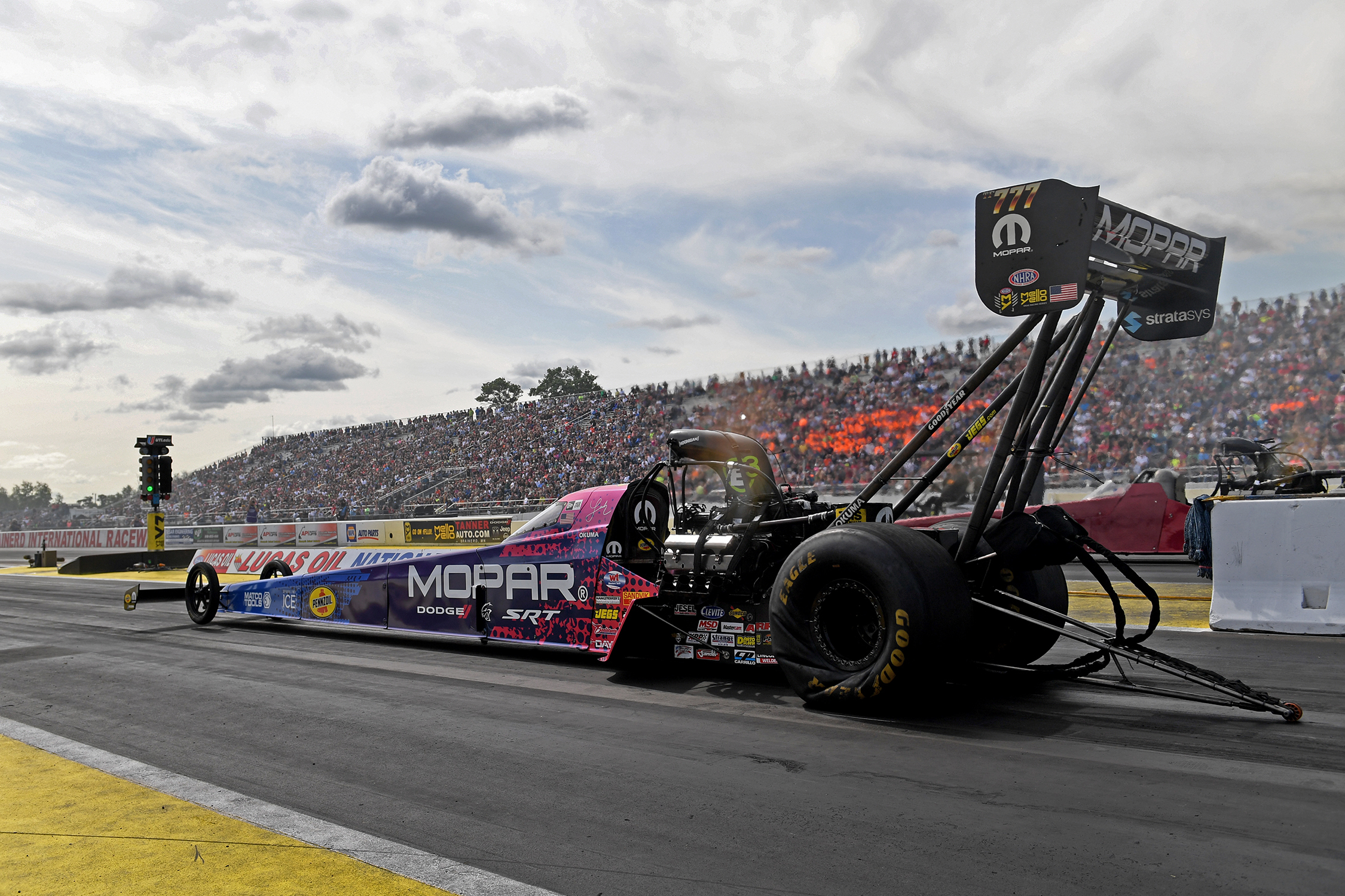 Top Fuel - Leah Pritchett - Mopar Express Lane NHRA Nationals action