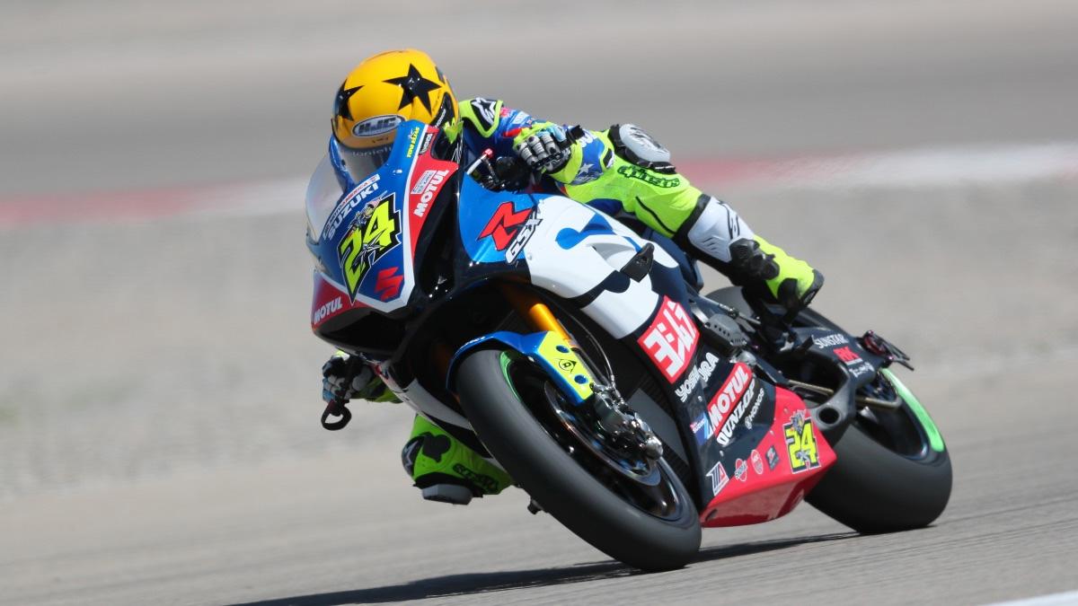 Yoshimura Suzuki's Toni Elias has a 35-point lead in the MotoAmerica EBC Brakes Superbike Championship