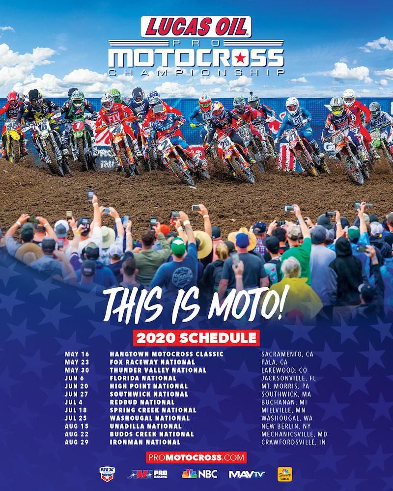 191009 2020 Lucas Oil Pro Motocross schedule