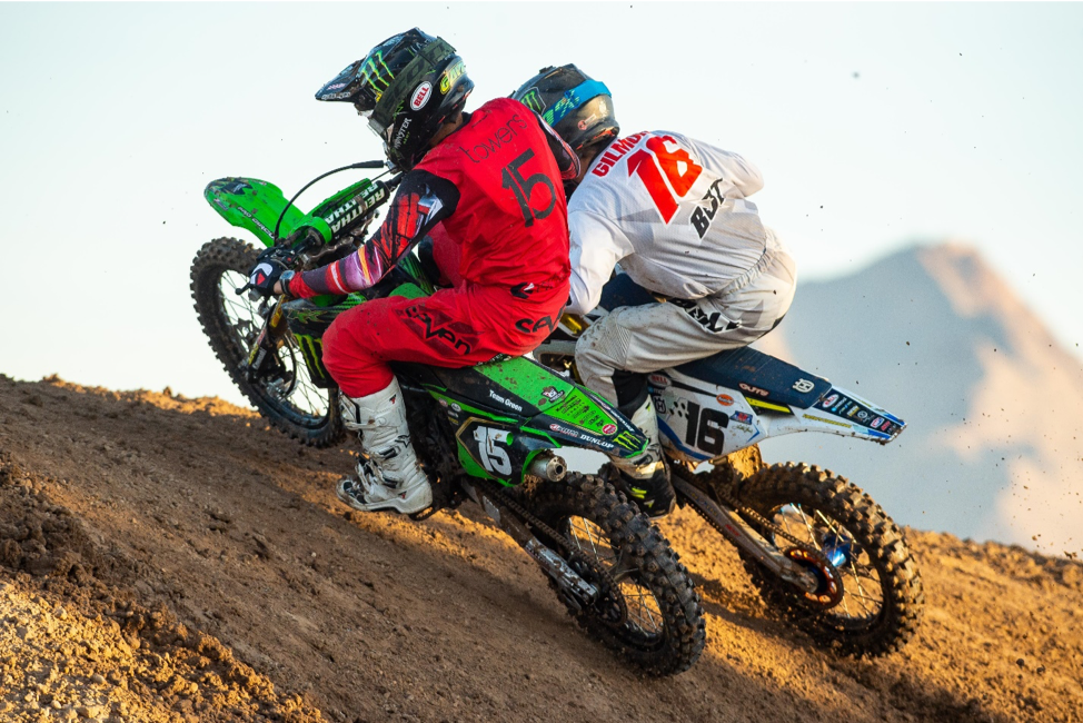 191024 Kawasaki's Gavin Towers' (15) strong 1-2 finish in the Supermini 1 (12-15) Class gave him the overall title