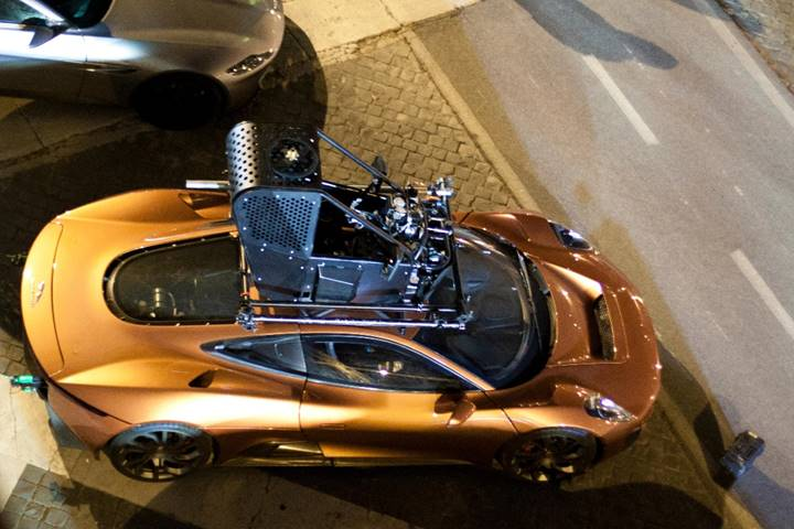 191030 Chassis no. 001 as seen during the filming of Spectre in Rome in March of 2015 (Credit - Courtesy of Alamy Images) [4]