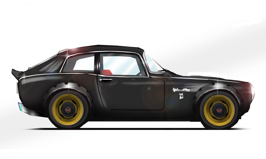 1968 Honda S800 Coupe Outlaw for 2019 SEMA Show