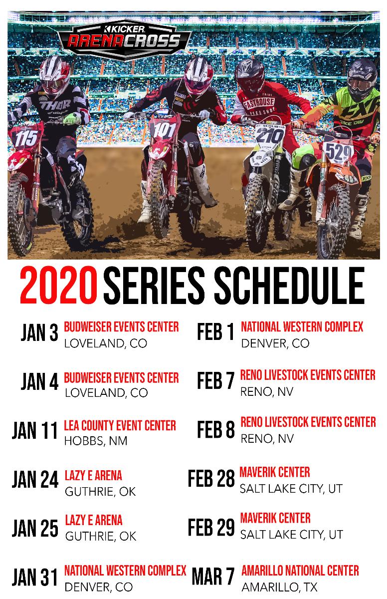 2020 AMA Arenacross Schedule