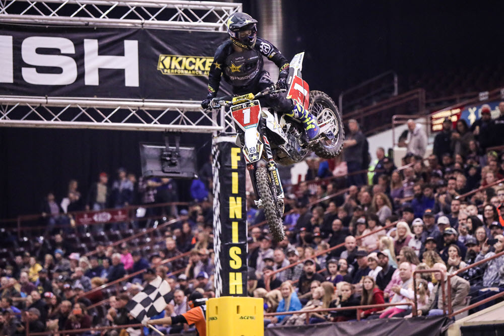 Colton Haaker earned his third AMA EnduroCross title by taking the Seat Concepts Boise EnduroCross overall win. Photo- Jack Jaxon