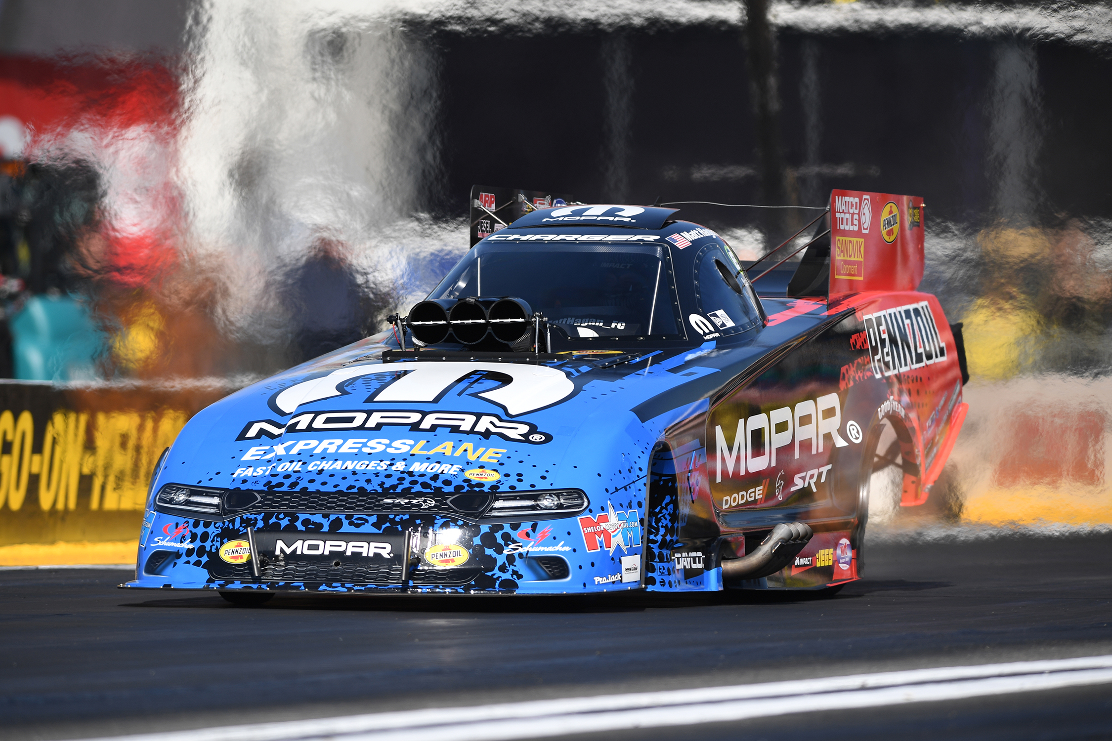 Funny Car - Matt Hagan - Dodge NHRA Nationals action
