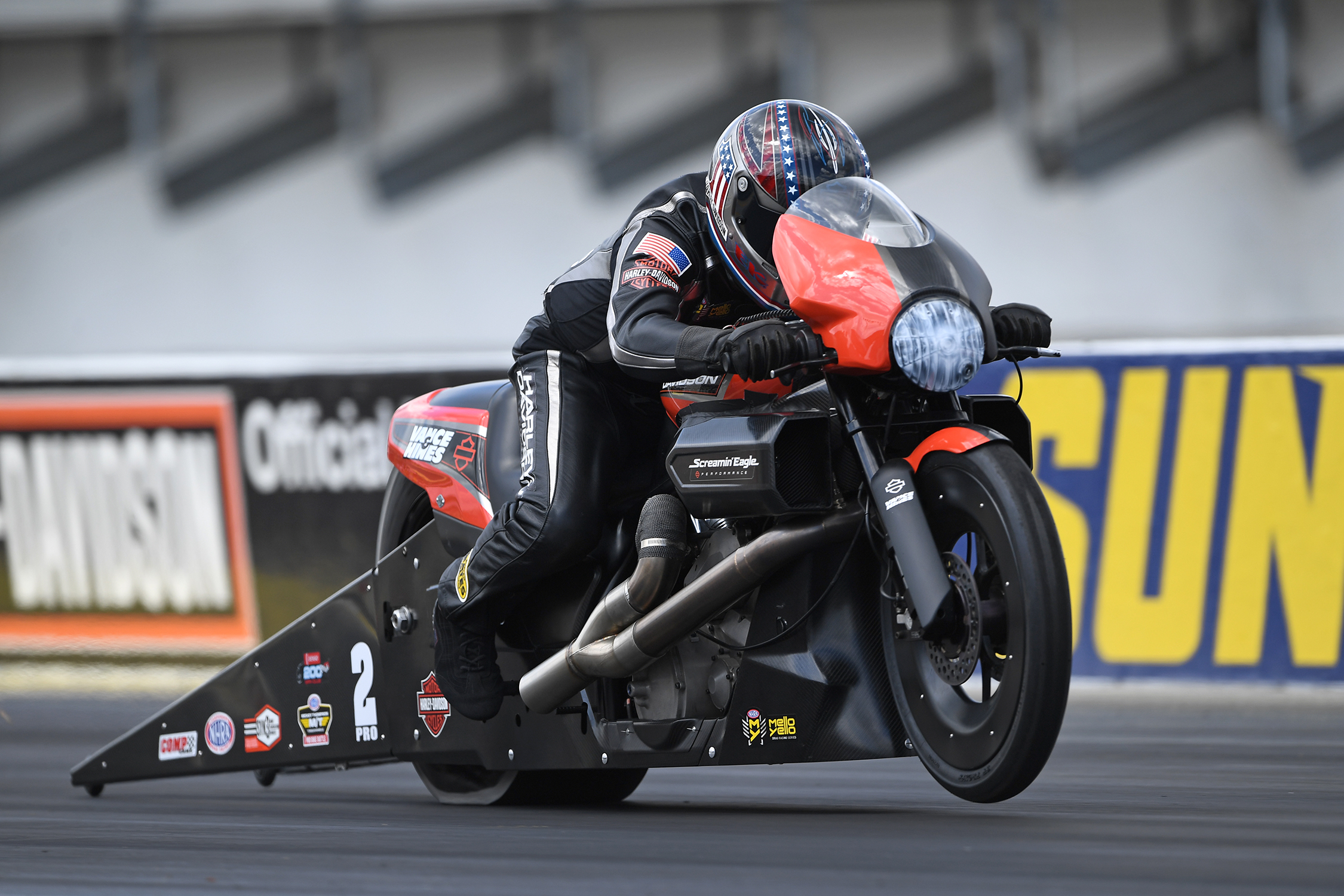 Pro Stock Motorcycle - Eddie Krawiec - AAA Texas NHRA Fallnationals action