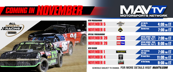 Multiple Season Premieres, Special Programming and More Featured This November on MAVTV