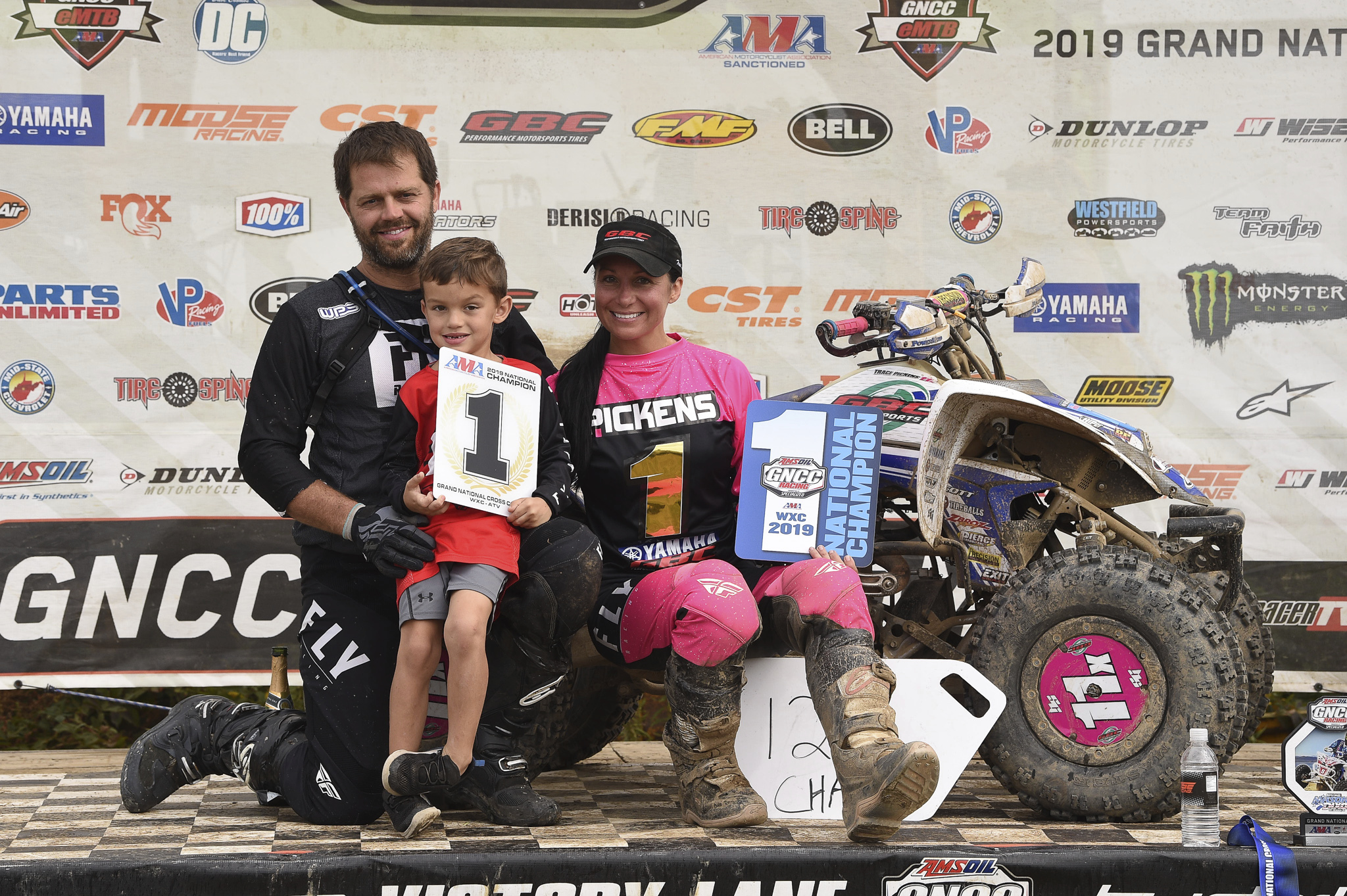 Traci Pickens added to her all-time leading women's ATV racing record with her 12th GNCC WXC championship aboard her GBC Motorsports / Fly Racing / Yamaha YFZ450R, with seven first-place finishes this season.