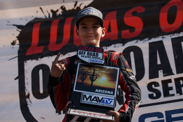 191105 George Llamosas became the first RZR 170 Champion after an impressive season. Photo- Lucas Oil Off Road Racing Series [9]