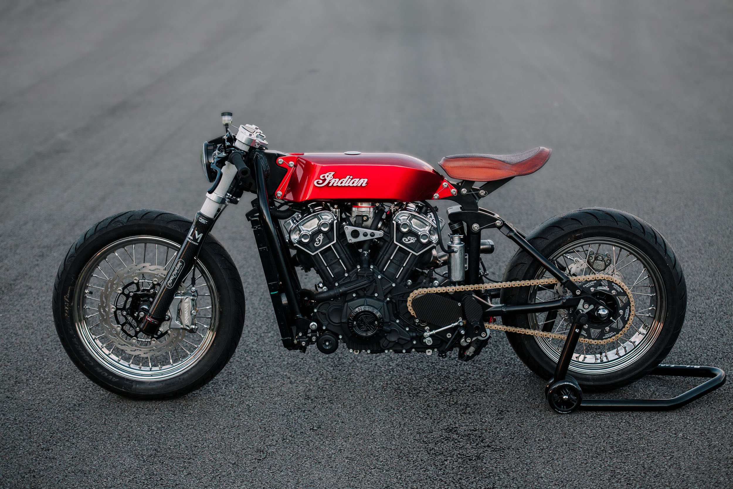 "191114 Indian Motorcycle Shares Custom ""Hasty Flaming Buffalo"" Scout Bobber [2]"