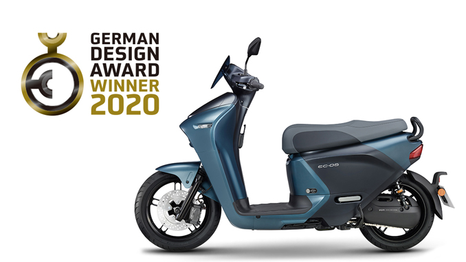 "191125 lectric scooter EC-05 has been given the title ""Winner"" in the Excellent Product Design category of the ""German Design Award 2020"" [678]"