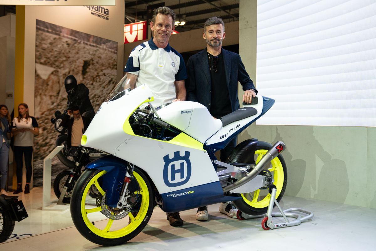 Husqvarna Motorcycles Return to Moto3 Competition with Max Racing Team - PETER ÖTTL AND MAX BIAGGI WITH THE NEW HUSQVARNA FR 250 GP