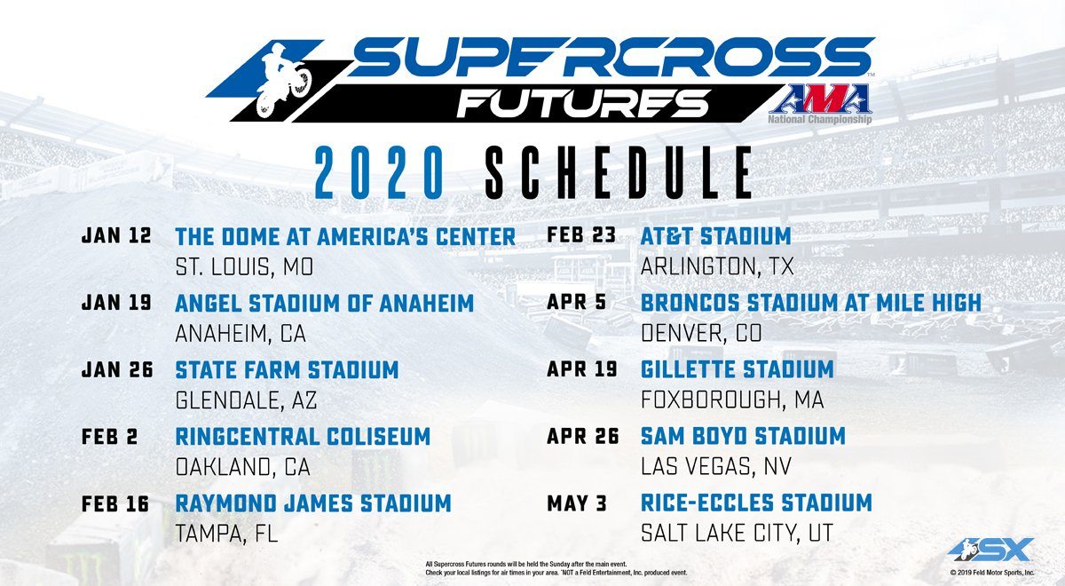 Supercross Futures 2020 schedule
