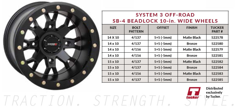 System 3 Off-Road - Sand-Ready! 10-inch Wide SB-4 Beadlock