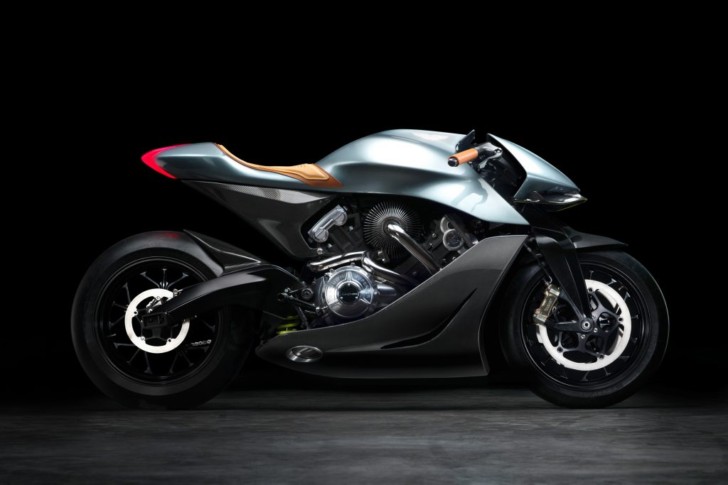 aston martins first motorcycle is automotive art for the