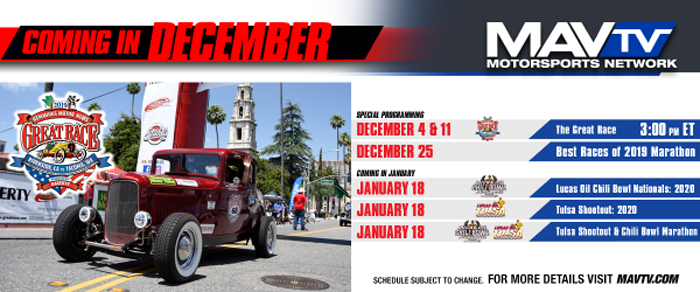 191202 Special Programming Featured on MAVTV This December With Additional Racing Action Coming in January