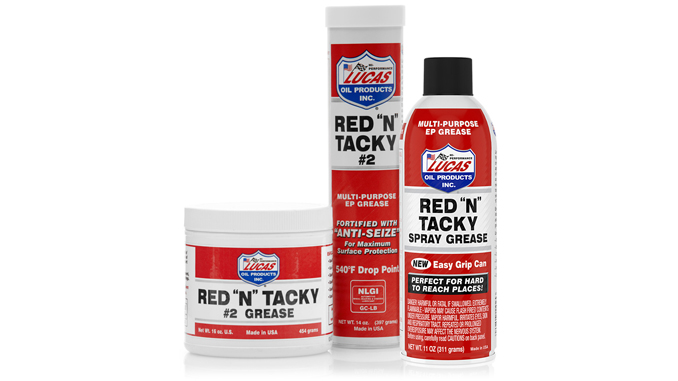 """191203 Lucas Oil Red """"N"""" Tacky Spray Grease [678]"""