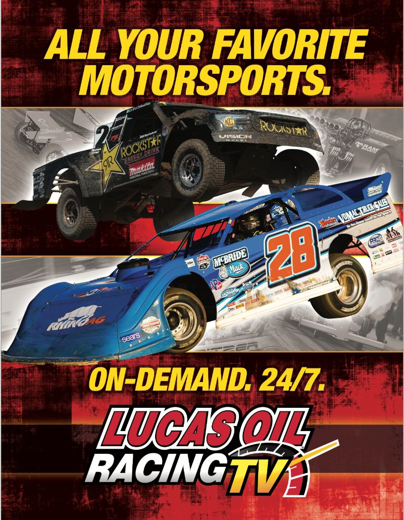 24/7 on-demand - Lucas Oil Racing TV