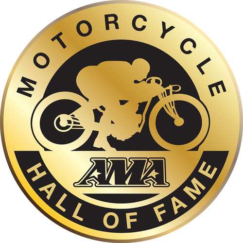 AMA Motorcycle Hall of Fame Logo.