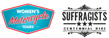 Womens Motorcycle Tours - Suffragists Centennial Ride logos [1]