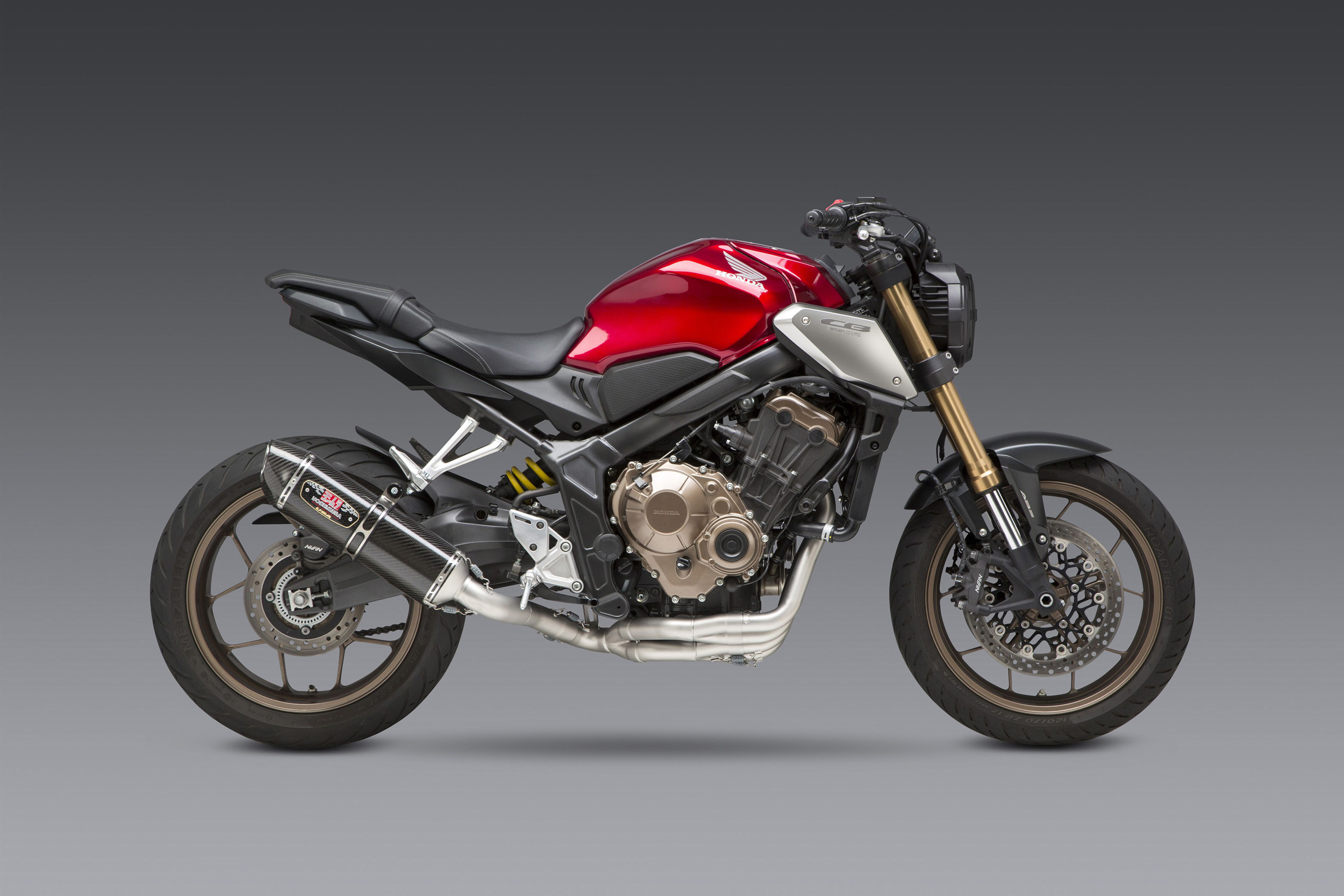 200109 2019 CB650R with carbon fiber R-77 WF Race Series full system