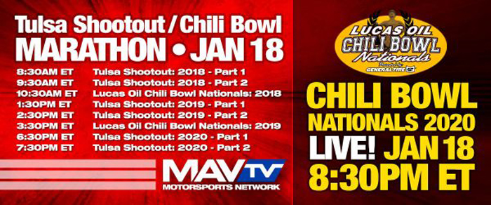 200114 Live On MAVTV With Special Tulsa Shootout and Chili Bowl Nationals