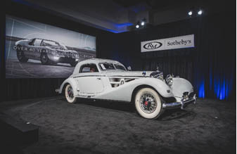 200119 The highly anticipated 1937 Mercedes-Benz 540 K Coupe brings excitement on the block at RM Sotheby's Arizona