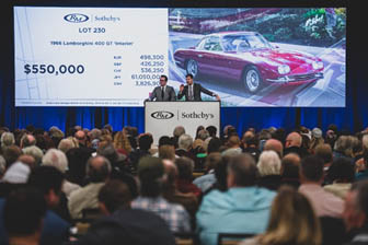 200119 The packed auction room on Friday night at RM Sotheby's Arizona sale
