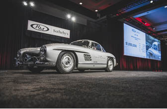 200119 The stunning 1955 Mercedes-Benz 300 SL Gullwing at RM Sotheby's Arizona