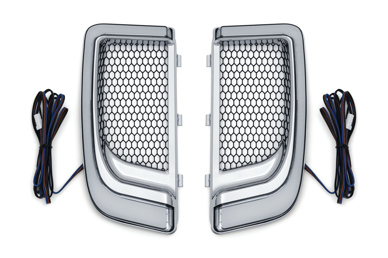 200128 Tracer L.E.D. Fairing Lower Grills, Chrome [2]