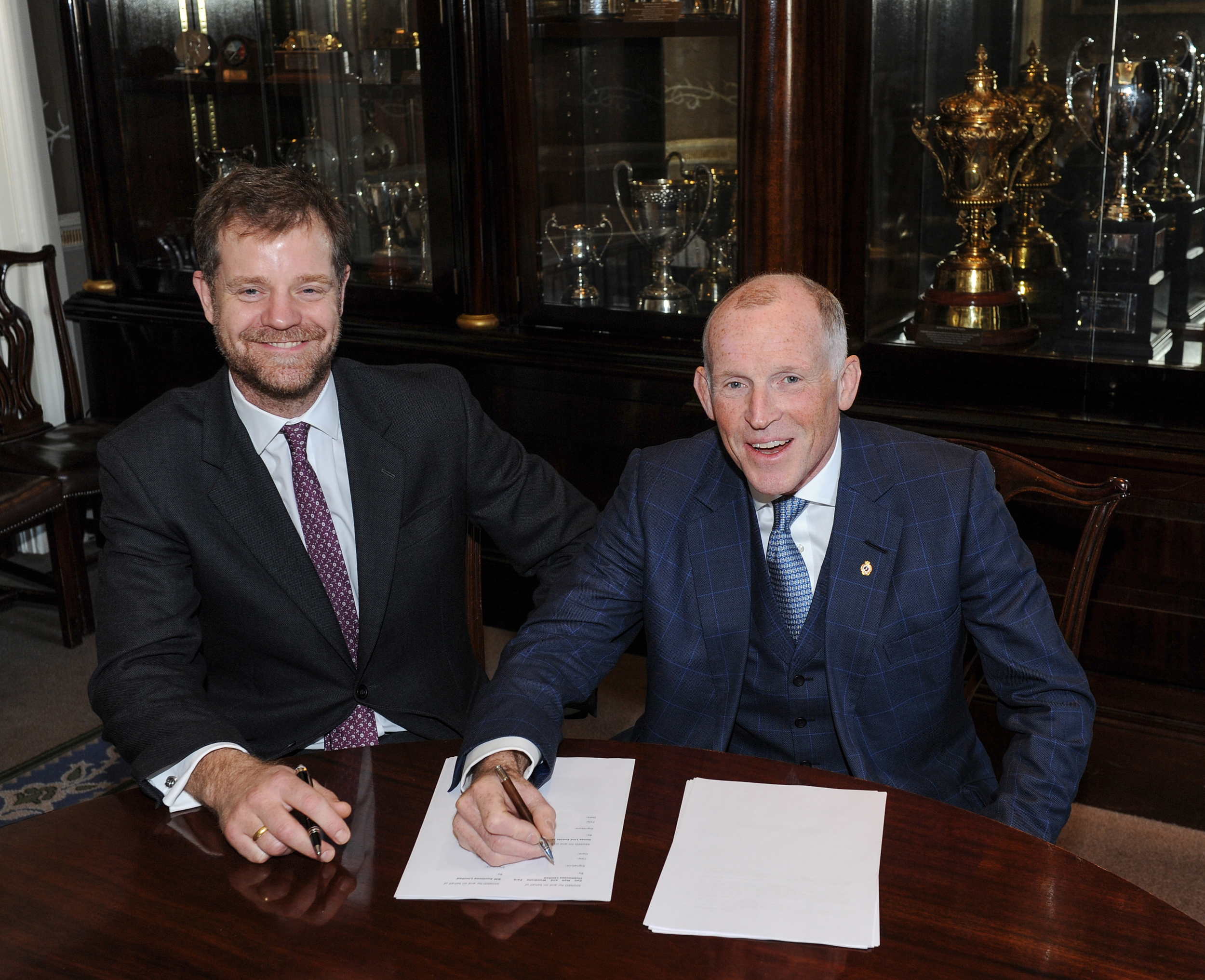 200130 Maarten RM Sotheby's (left above) and Ben Cussons Chairman of the Royal Automobile Club