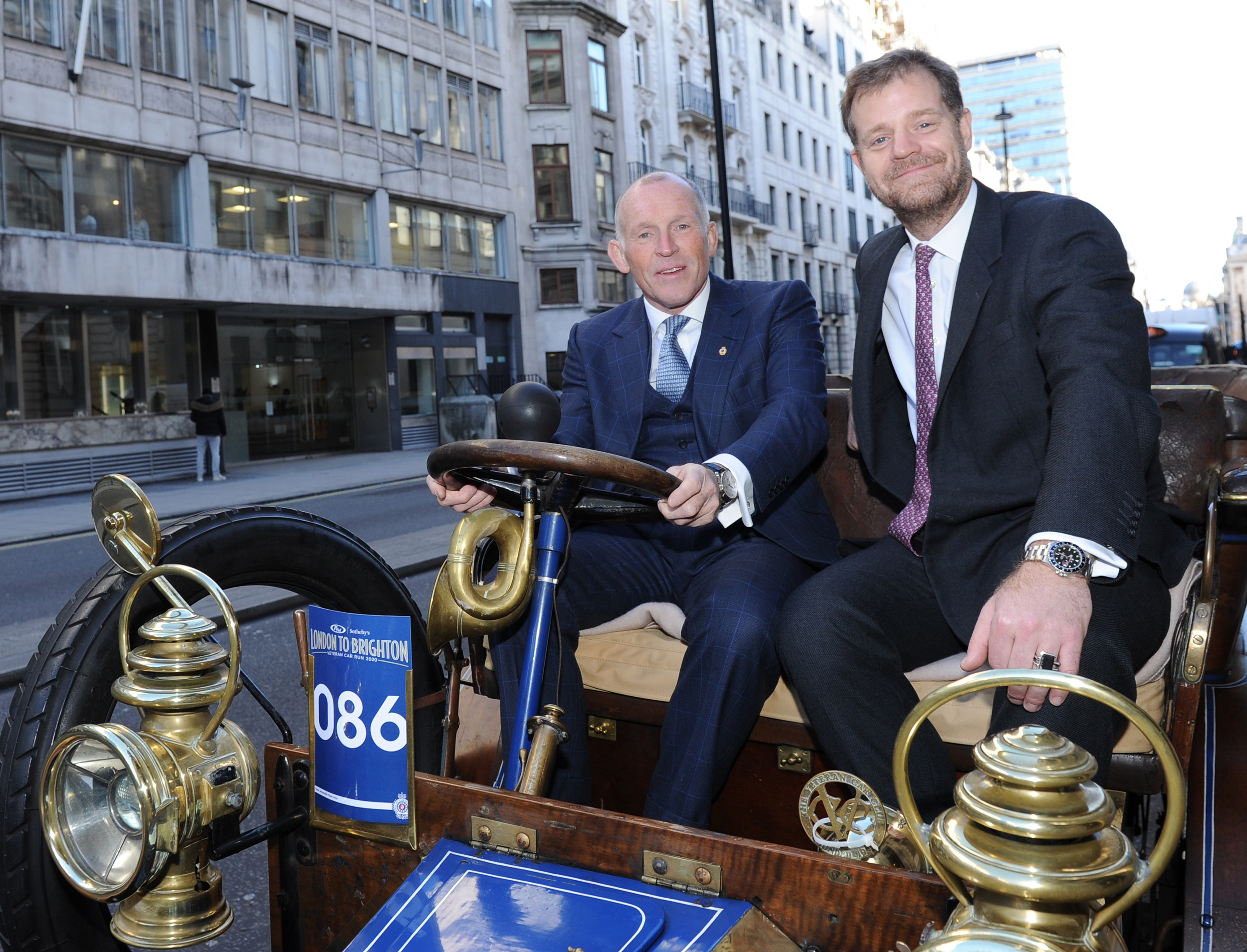 200130 Maarten ten Holder, Head of Europe & Chief Auctioneer, RM Sotheby's (left above) and Ben Cussons, Chairman of the Royal Automobile Club.