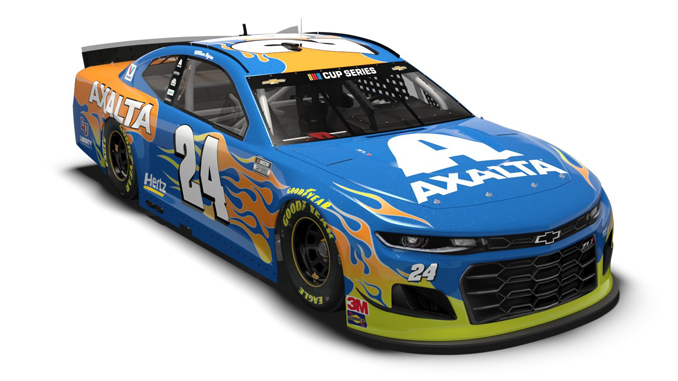 The No. 24 Chevy will sport the new Axalta 2020 Automotive Color of the Year - Sea Glass - at DAYTONA 500.