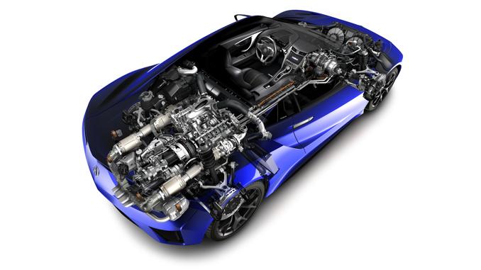 Acura NSX layout
