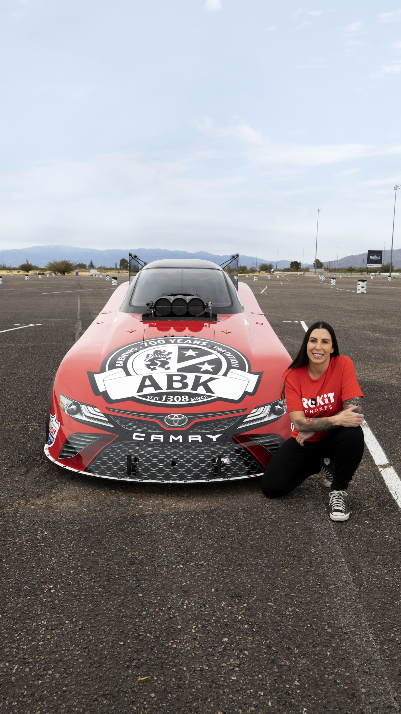 Alexis DeJoria returns to Drag Racing This Season and Announces Two Major New Sponsors, ROKiT Phones and ABK Beer.