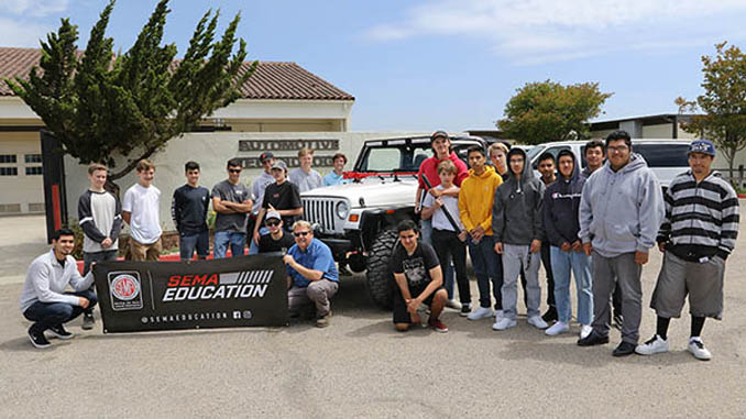 California's Santa Ynez Valley Union High School is among the 10 schools that will participate in the 2019-2020 SEMA High School Vehicle Build Program [678]