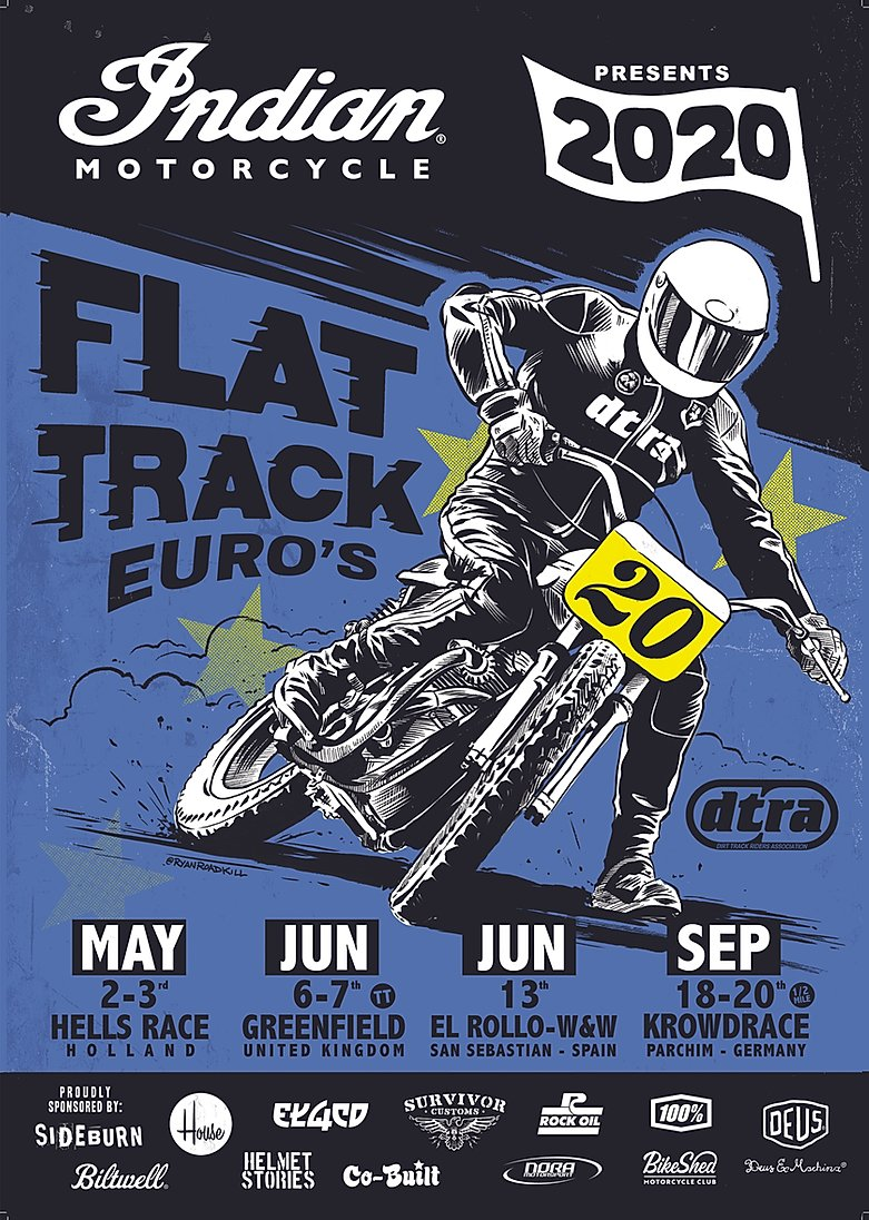 2020 Indian Motorcycle European Flat Track Series