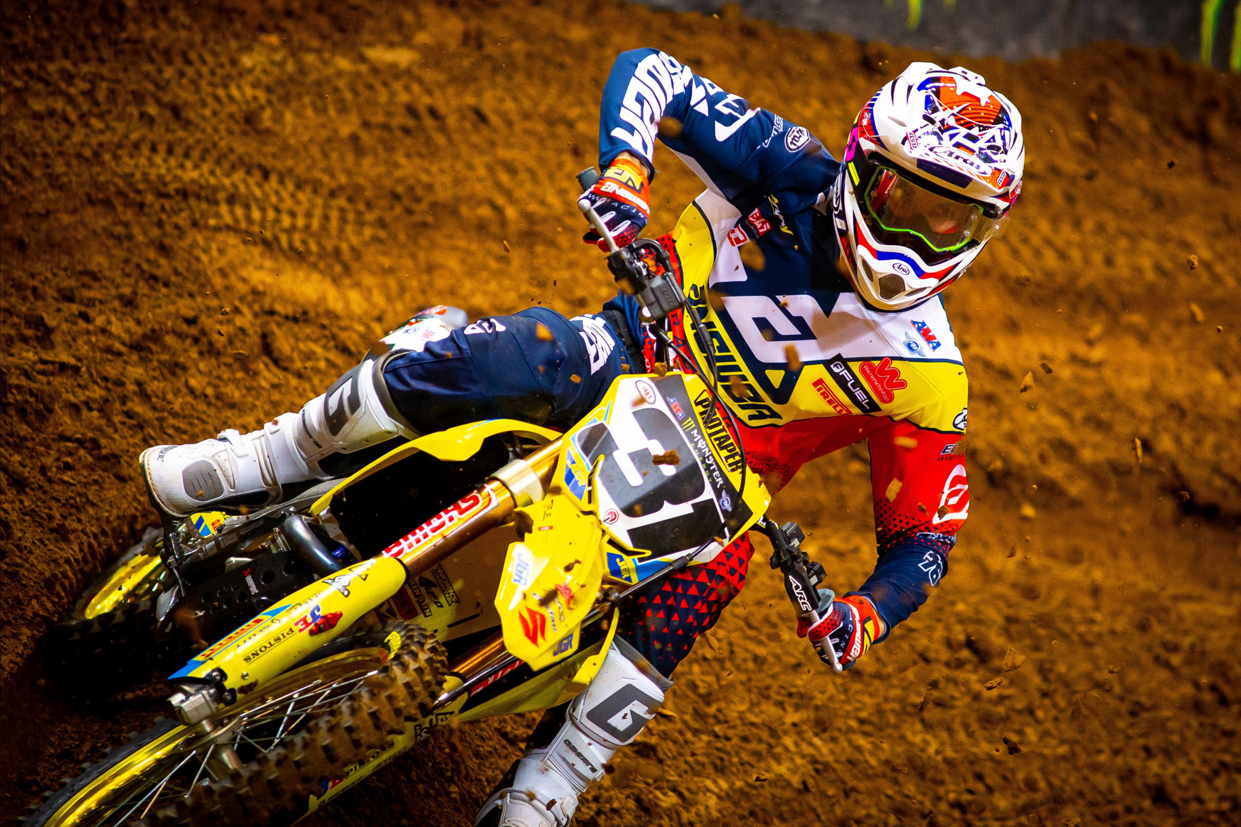 Jimmy Decotis (#31) displayed speed and skill on the rutted Missouri track on his RM-Z450. [2]