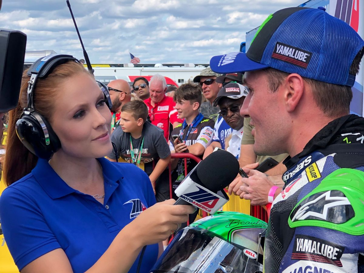 200210 Hannah Lopa will again be joined by Greg White, Jason Pridmore, Robbie Floyd, Michael Hill and Jonathan Green as the talent for MotoAmerica's TV and live-streaming platforms